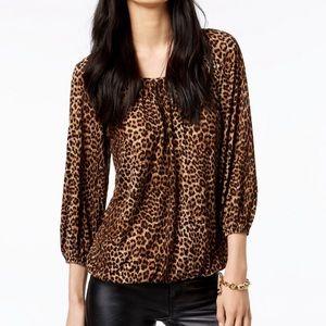 Michael Kors leopard petite medium top